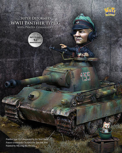 Nuts Planet SD-V01 1 32 Panzer Commander & Panther Type G, Full version