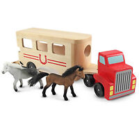 Melissa And Doug Classic Toy Wooden Horse Carrier Play Set Toys Kids