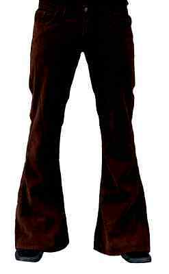 Cord Flares Mens bell bottoms hippy retro indie Corduroy trousers 60s 70s