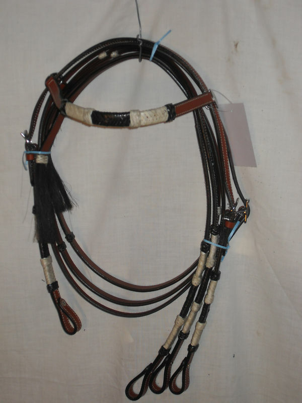 NEW WESTERN HEADSTALL   BRIDLE, TAN COLOR LEATHER  W REINS HORSE SIZE, SHARP  your satisfaction is our target