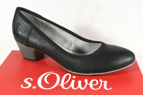 S.Oliver Damen Pumps Ballerina Slipper schwarz 22301 NEU!