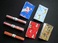Dolls House Miniature Christmas Wrapping Paper X 7