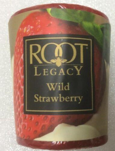 Root Fresh Citrus Scent Candle Wild Strawberry 2.1 Oz Votive A.I