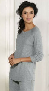 Soft Surroundings Gray Long Sleeve Soft and Cozy Sweet Repose Lounge Top Sz XS