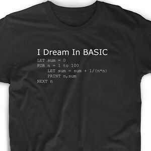 Basic Programming Language Computer T Shirt Retro Video Game Geek ...