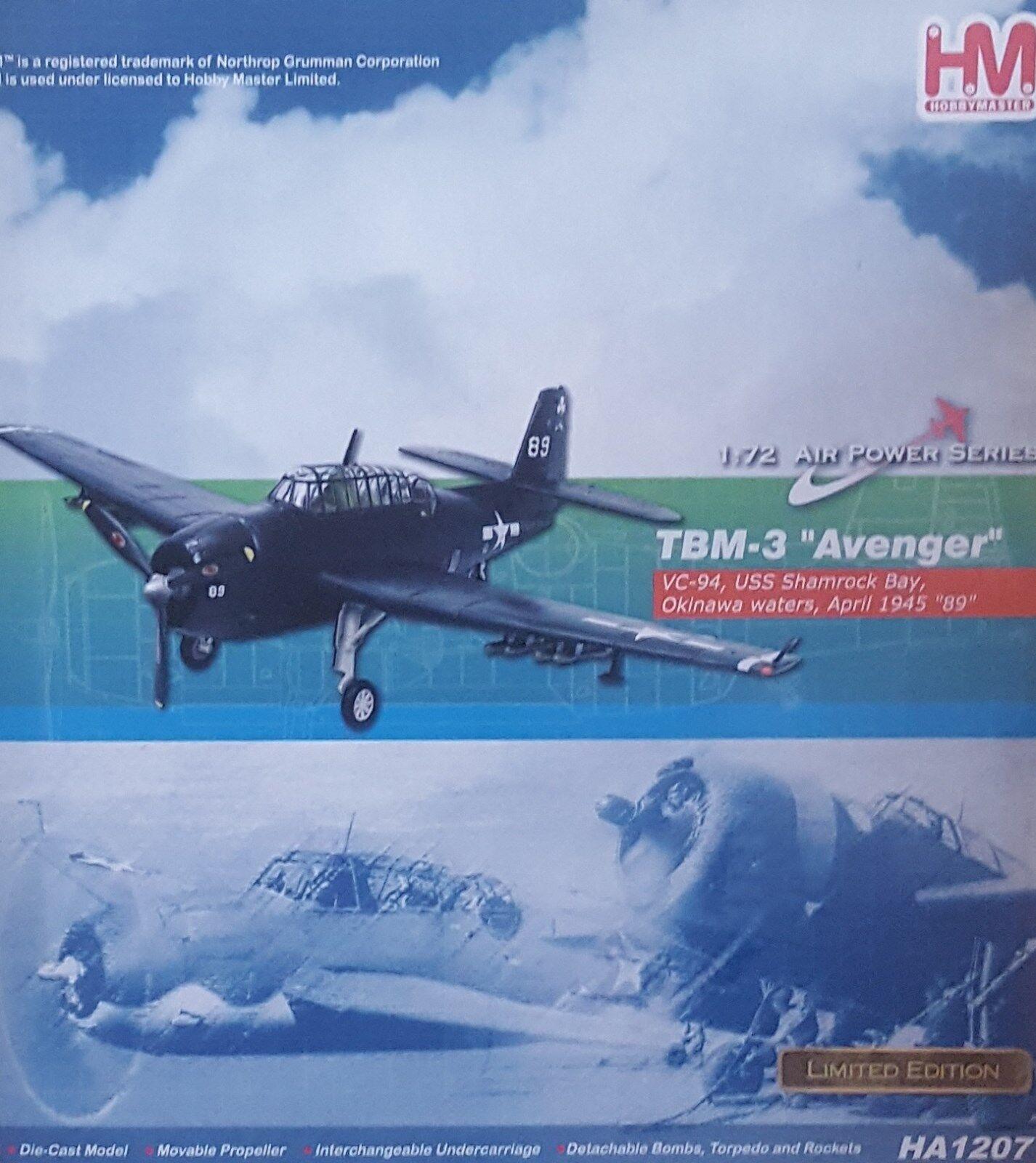 Hobby Master, HA1207, Grumman TBF Avenger, Blanco 89, USS Shamrock Bay, Sellado