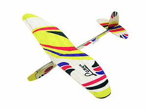 Lanyu Hand Launch Balsa Wood Glider Plane Diy Build Paint Model Kit