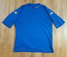 KAPPA MENS BLUE SOCCER FOOTBALL SHIRT SIZE LARGE ITALIA PATCH VTG
