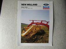 1990 Ford New Holland 57 256 258 260 216 Rolabar Rakes Brochure