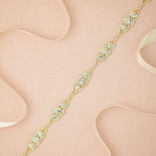 Rhinestone Bridal Belt Crystal Bridal Sash Wedding Belt for Wedding Prom Dress
