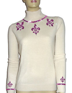 100 144 Luxe 42 Pink 12ft Oh` Cashmere Sweater White 5 Rosa Dor Pearl Luxury PPZpqwxErR