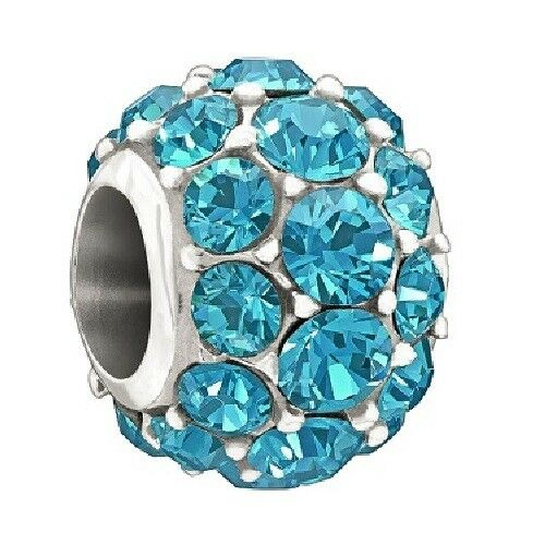 Chamilia Sterling Charm- Splendor Bright bluee Bead