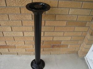 RV surface mount pedestal EXTREME STRONG POLYMER MATERIAL TABLE LEG BASE Black