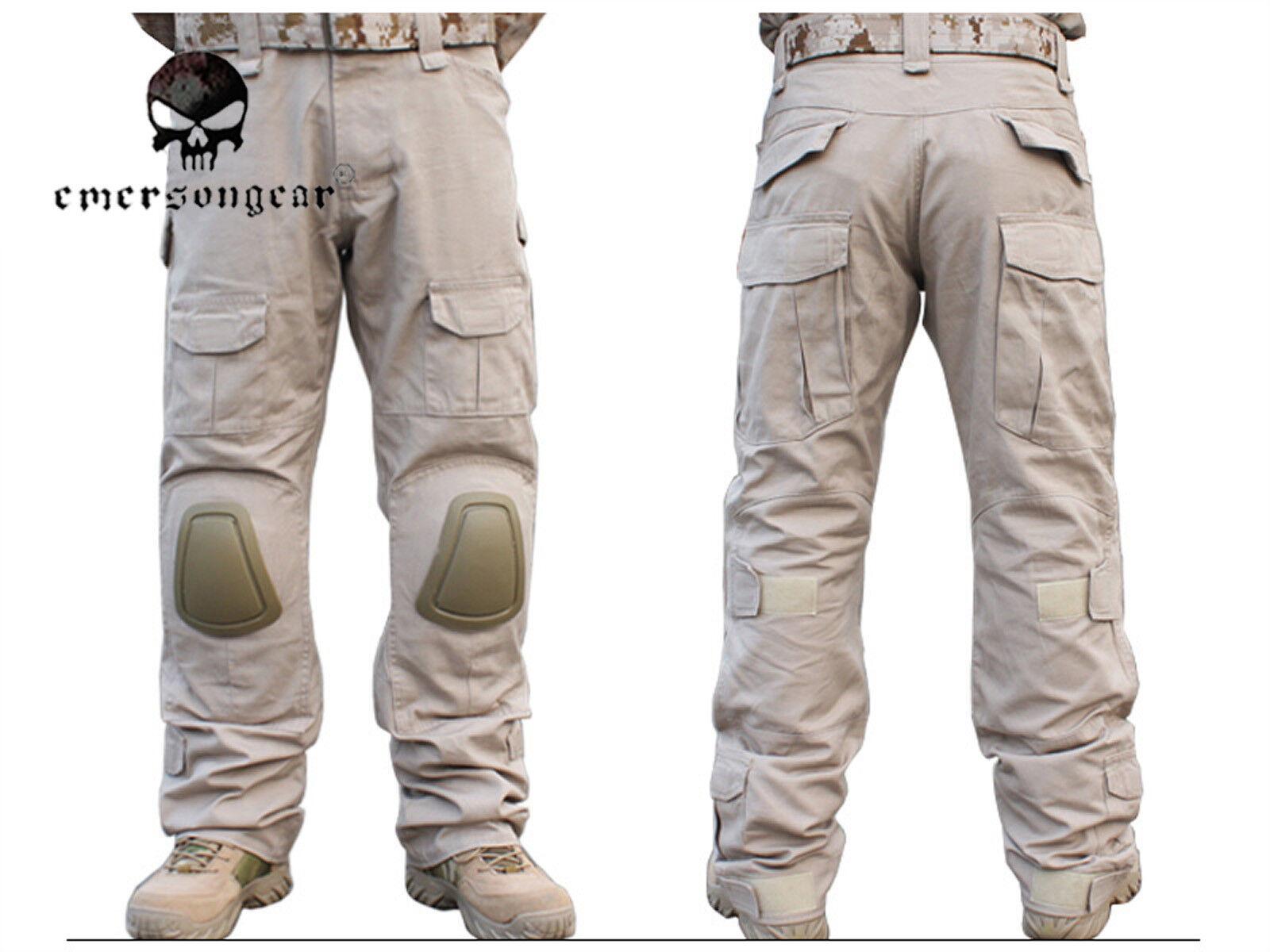 Men Hunting Combat bdu Pants Emerson Tactical Gen2 Pants with Knee Pads TAN
