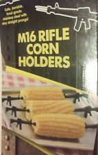 8 pcs: 4 sets of 2 AR-15 // M4 Military Gun Corn Cob Holders // Hors d/'oeuvres