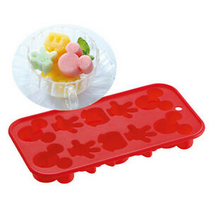 Disney Mickey Mouse Silicone Ice Tray Chocolate Candy Face