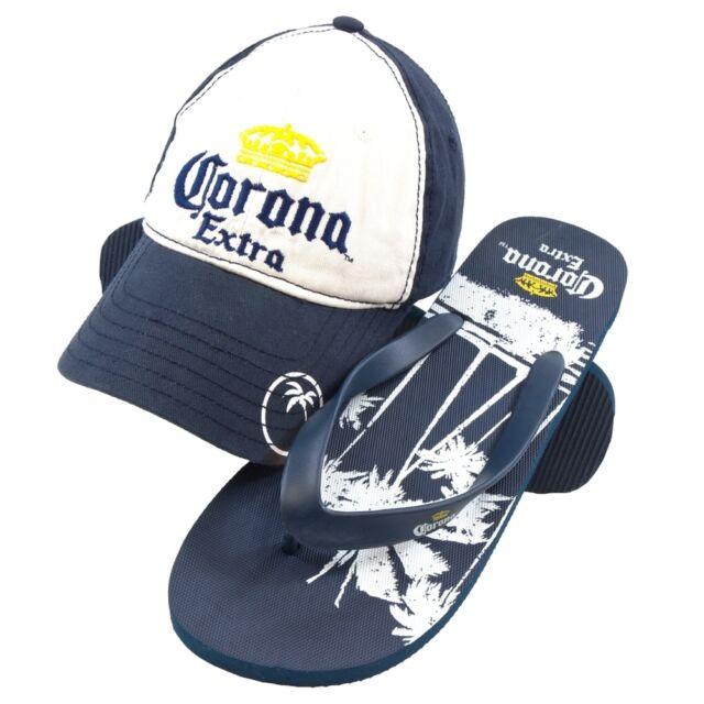 Corona - Crown Logo Adjustable Cap and Flip-Flops Combo Set