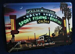 man cave garage bar. Image Is Loading Route 66 End Of The Road US MADE  Full Color Metal Sign Man