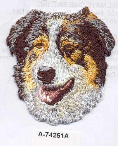 "2 1//4/"" x 2 1//2/"" Australian Shepherd Dog Embroidery Patch"