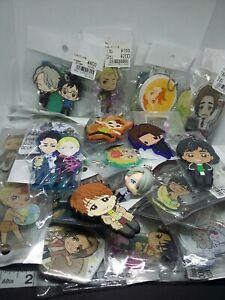 38pc Yuri on ice figure keychain strap charm pin badge button anime kawaii lot