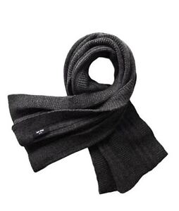 Jack-Spade-Men-039-s-Pollock-Ribbed-Scarf-Gray-Wool-NWT-98-GIFT