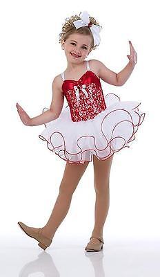 Christmas Nutcracker Ballet Tutu Dance Costume Shirley Temple Child L,AM