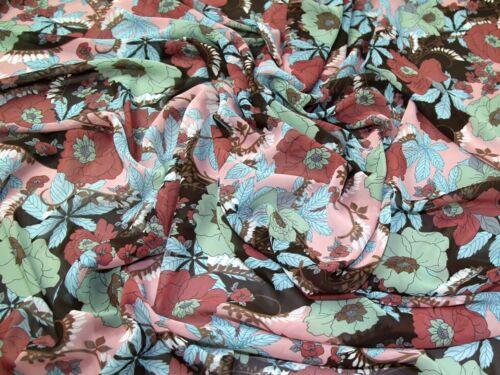Tejido de poliéster de Gasa Vestido Estampado Floral-se vende por metro