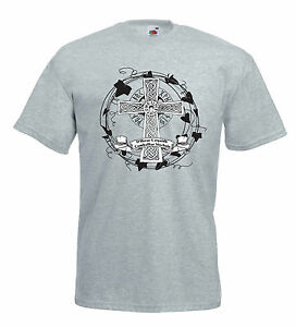 Maglia Croce Celtica E33 Tiocfaidh ár lá Irish Republican Folk T-shirt cotone