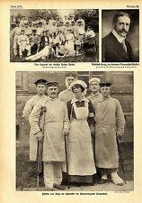 Fürstin von Pleß als Schwester im Reservelazarett Tempelhof 1.WK Dezember 1914