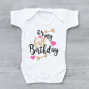 Es mi cumpleaños niñas flechas bebé crezca Media Body