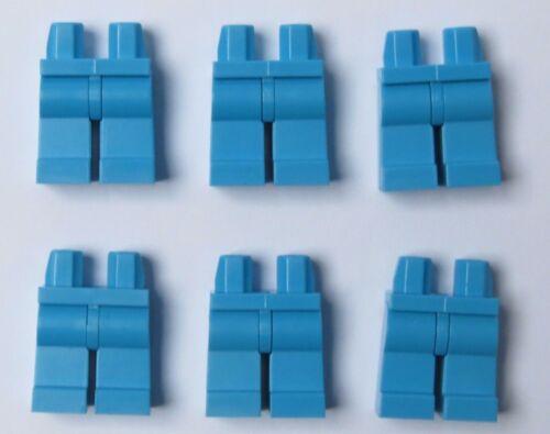 Lego 6  Leg  Legs Lower Parts For Minifigure Figure  Dark  Azure Blue Series
