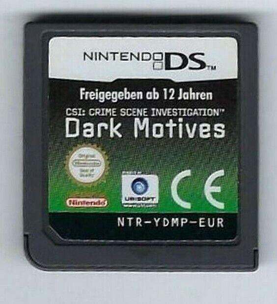 CSI DARK MOTIVES jeu / game cartridge for Nintendo DS, DS Lite, DSi, 3DS