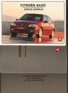 franzoesische-Betriebsanleitung-Notice-D-039-Emploi-Citroen-SAXO-Mappe-Ausgabe-2000