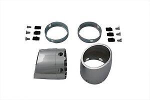 Kit-End-Cap-BILLET-ESTILO-SLASH-para-3-1-2-034-De-Escape-Silenciador-Para-Harley-Davidson