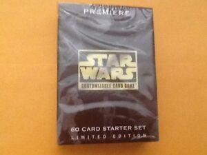 STAR WARS CCG PREMIERE BLACK BORDER SEALED STARTER DECK OF 60 CARDS