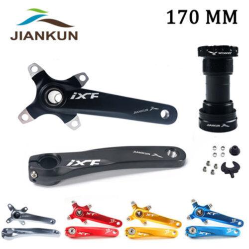 MTB Road Bike CNC Crankset 170mm BCD104 Cranks Arm /& Bottom Bracket /& Chianring