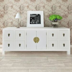 Image Is Loading Wooden Sideboard Tv Cabinet Asian Style With 8