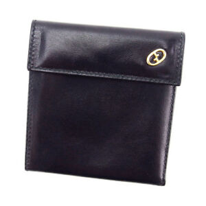 Gucci-Wallet-Purse-Bifold-Black-Woman-unisex-Authentic-Used-T3220