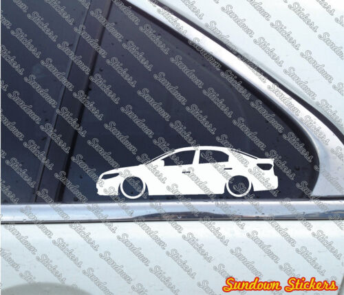 2009–2012 2X Lowered car outline stickers for Kia Forte sedan 1st gen