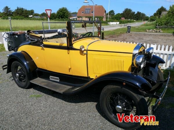 Ford A, 3,3 Roadster Cabriolet, Benzin, 1931, km 69000,…