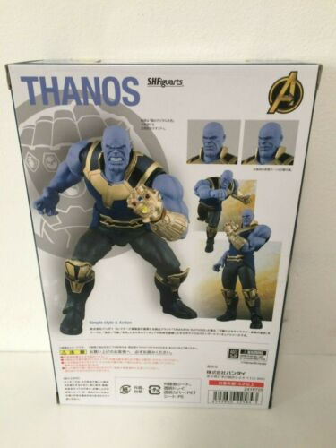 AUTHENTIC Bandai Avengers Infinity War Thanos S.H.Figuarts Action Figure USSELLR