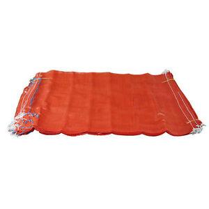 500 Orange Net Sacks Mesh Bags Kindling Logs Potatoes Onions 50cm x 80cm / 30Kg