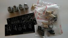 Nixie Tube clock KIT with IN-12 LED Alarm Black