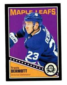 2019-20-UD-OPC-O-Pee-Chee-Retro-Black-Border-150-Travis-Dermott-054-100-Leafs