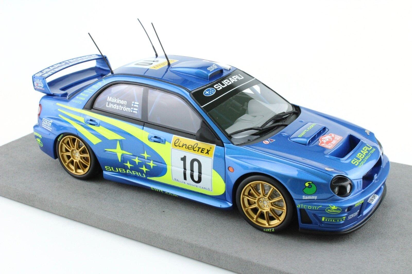 Subaru Subaru Subaru Impreza WRC s7 MONTE CARLO 2002  10 Mäkinen Winner victoire Top Marques 1 18 4e619f