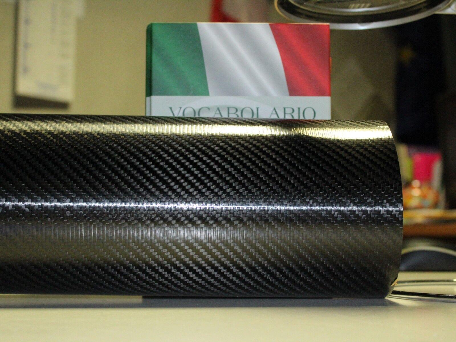 Tubo in fibra di carbonio twill 3k est48 int46 lung.mm1000