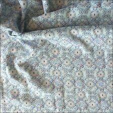 Trellis Floral on Pale Blue Viscose Fabric 145cm