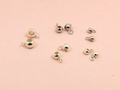 4.5mm hole Pack of 5 925 Sterling Silver Roll Top Tube Pendant Bail