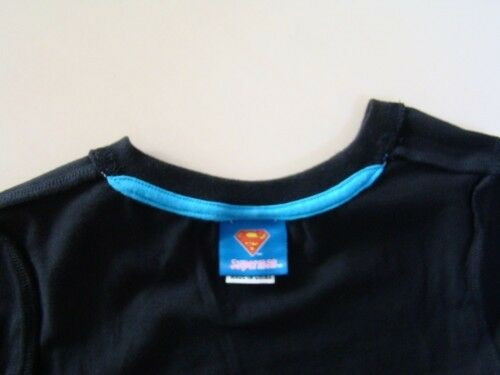 NEW Toddler Boys Superman Hero Cotton Tee Top  Size 5.6.7  BLACK