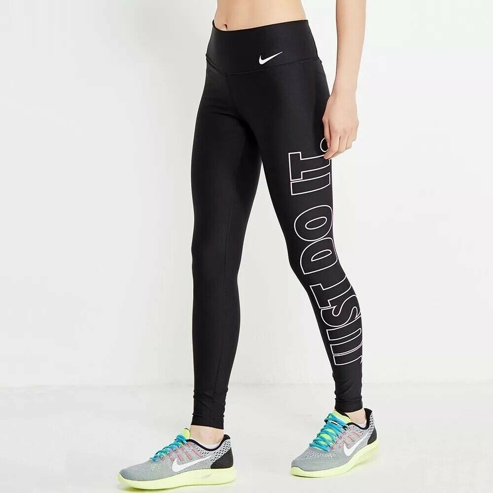 Women's Nike Power Legend Tightfit Leggings Running Training Gym Taille Moyenne